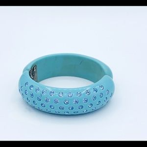 Weiss clamper turquoise crystal bracelet